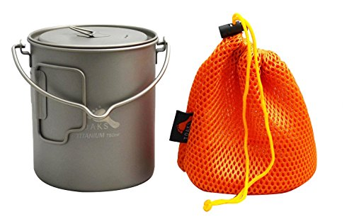 TOAKS Titanium 750ml Pot with Bail Handle by TOAKS